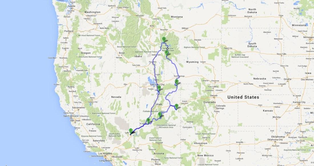 Voyage à l'ouest des Etats-Unis