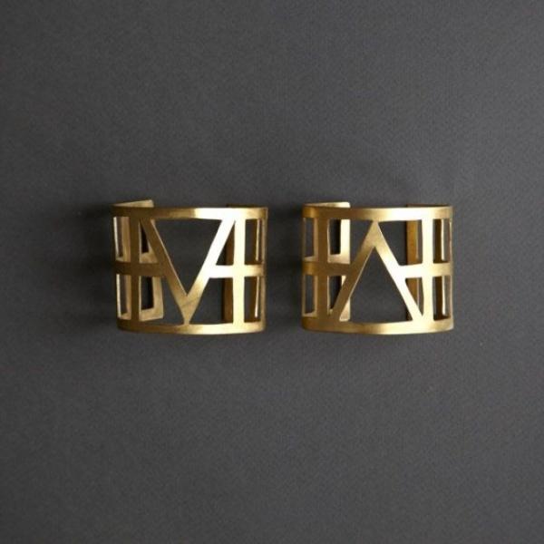 double bracelet manchette chez Etsy