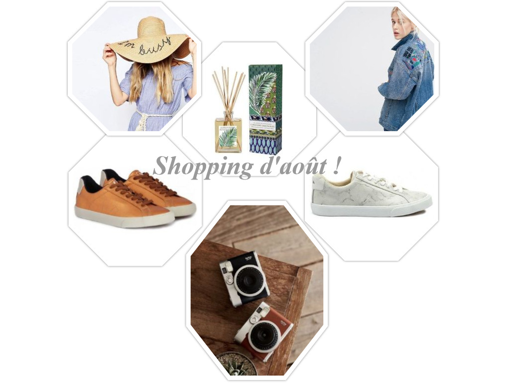 shopping mois d'août