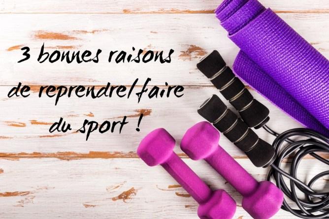 3 bonnes raisons de faire du sport