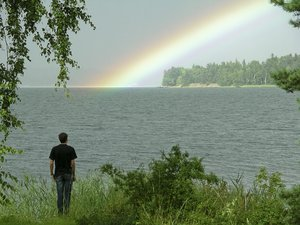 watching the rainbow