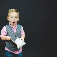 boy reacting to purpose