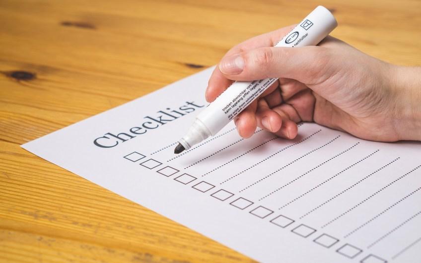 checklist with purpose