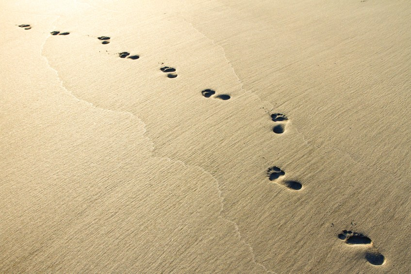 sand footprints to purpose