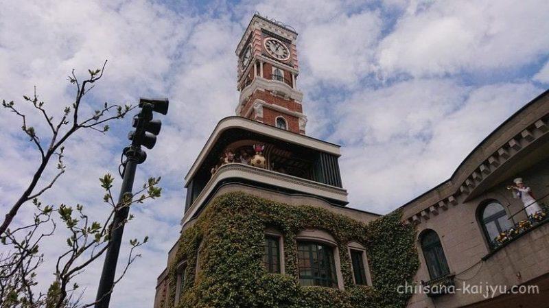 白い恋人パーク内にあるからくり時計塔