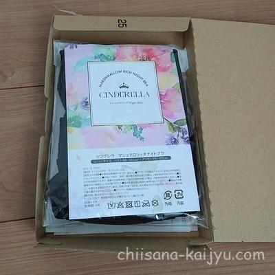 シンデレラマシュマロリッチナイトブラが届いた時の箱の中身