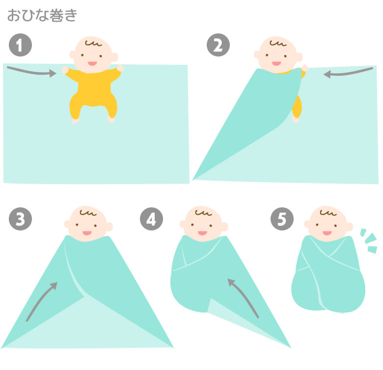 おくるみの巻き方。新生児には簡単な《おひなまき》がおすすめ