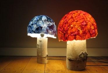 mushroom lamps (side view)