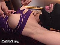 性欲処理用のパイパンマゾマスク女の乳首を強く引っ張ったら泡を吹いて感じだした!?
