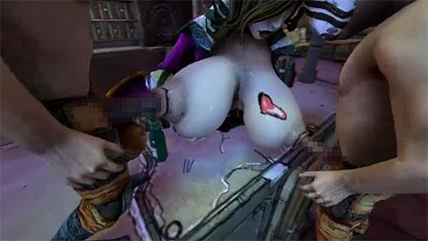 両方の乳首を犯されるママ