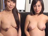 スッゴイ可愛いのに乳首が驚くほどドデカイ妊婦さん発見!もう一人の妊婦さんに乳首舐めされているシーンは超必見!