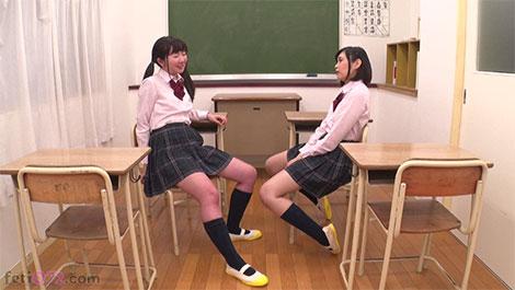 放課後教室でお喋りする優保なのか&熊野あゆ