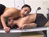 オフィスでお互い発狂するほど乳首を求め合い相互乳首舐めでエビ反り乳首イキする桃瀬ゆりさんと神納花さんの最高の乳首レズ!