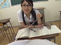 乳首のデカいM生徒が教室で水谷あおい先生に指示棒で乳首刺激されたり乳首舐めでペロペロされる主観動画!