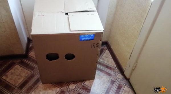 無造作に置かれたダンボールの箱