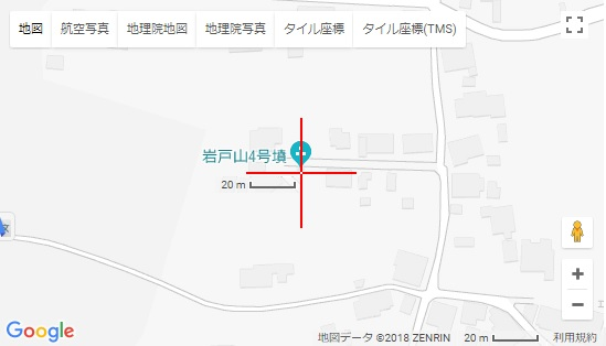 地図 岩戸山4号墳 古墳 市指定史跡