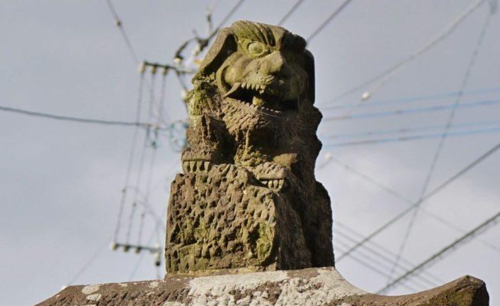 みやま市瀬高町大江 若宮神社 狛犬 石工 池松光造