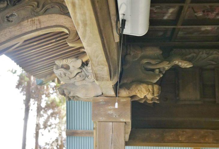 みやま市瀬高町大江 若宮神社 拝殿 獅子 造