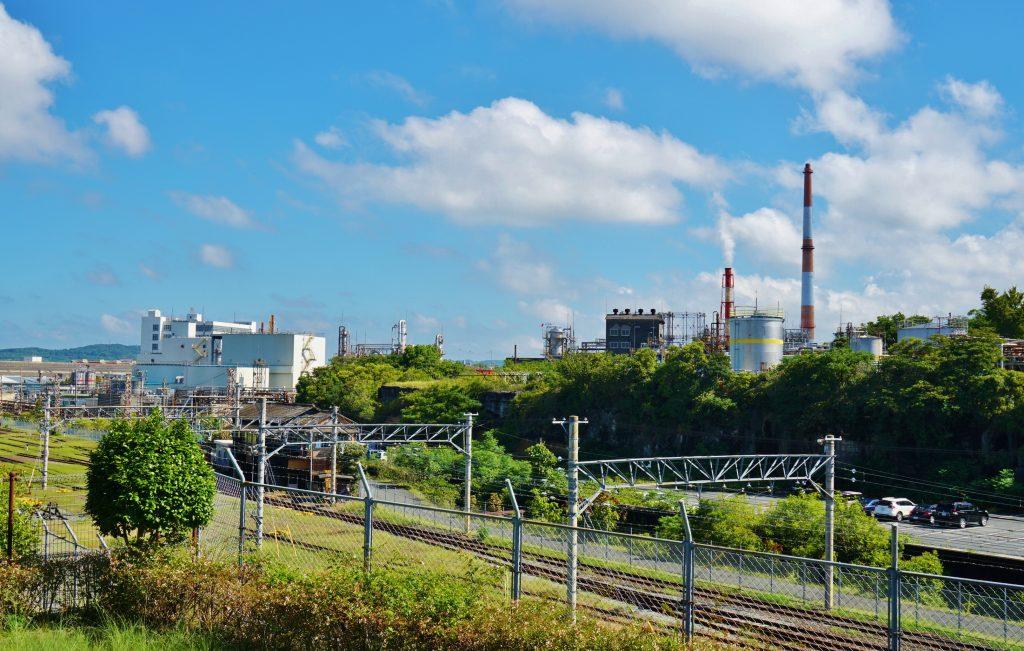 福岡県大牟田市西宮浦町132 宮浦石炭記念公園 三井化学 工業地帯