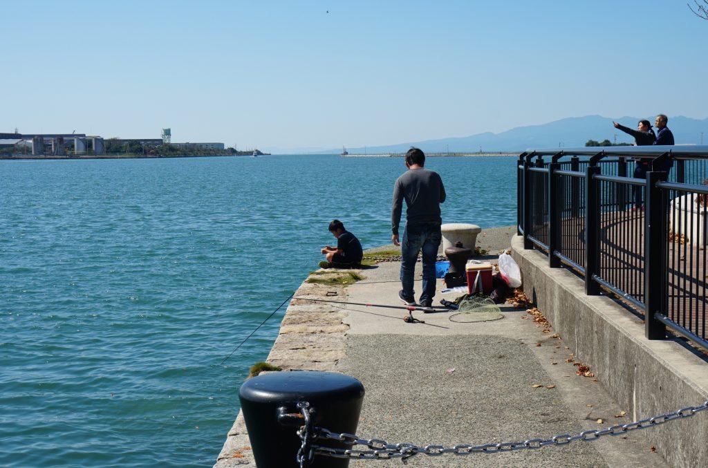 福岡県大牟田市新港町 あいあい広場 海釣 有明海 内海