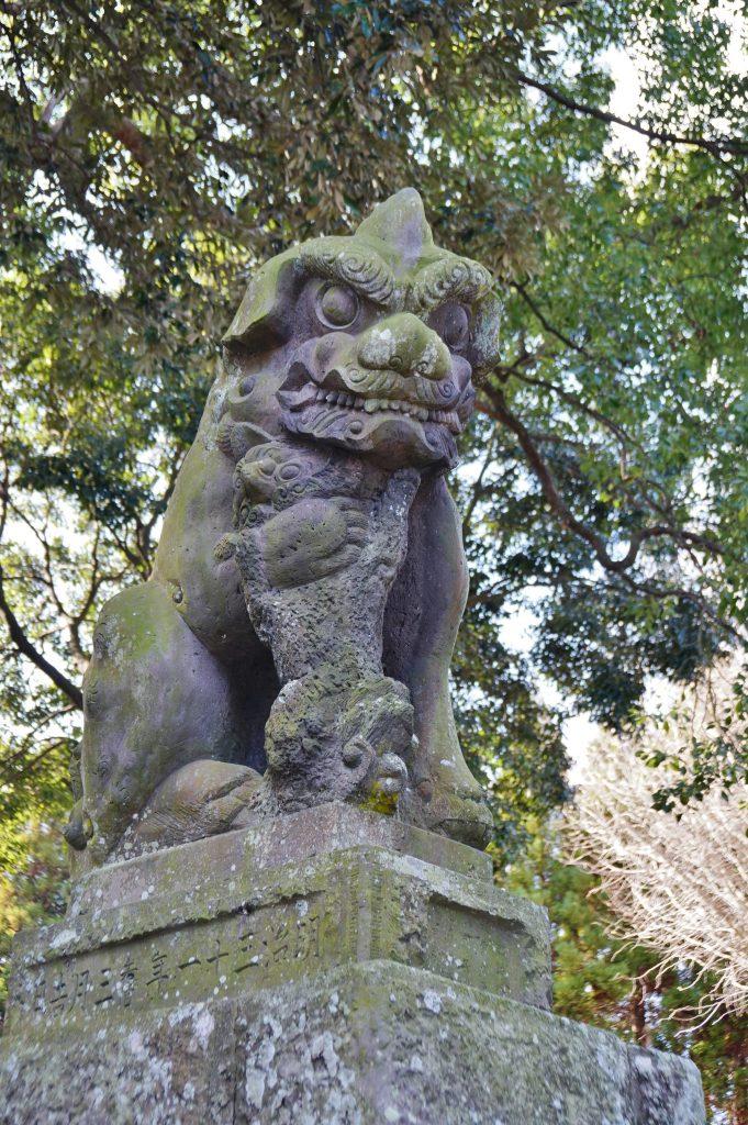 福岡県大牟田市宮部66-1 早馬神社 九州最大の狛犬 巨大こま犬