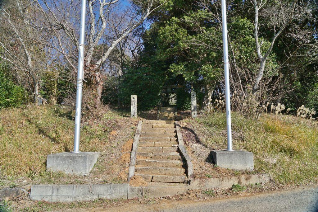 福岡県大牟田市宮部486-2 高良神社 神社入り口