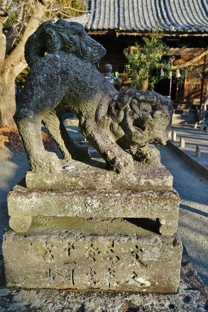 福岡県八女市忠見261-1 正八幡宮の狛犬 文久三年十一月吉日奉納
