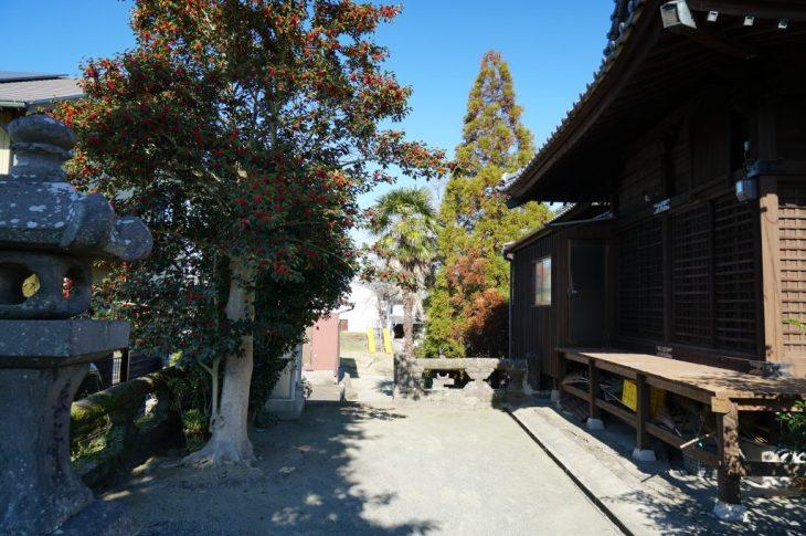 福岡県八女市津江 花宗神社 拝殿 神殿