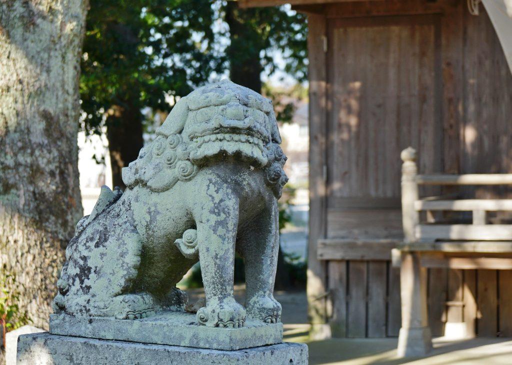 福岡県柳川市三橋町藤426-3 風浪神社 狛犬 吽形