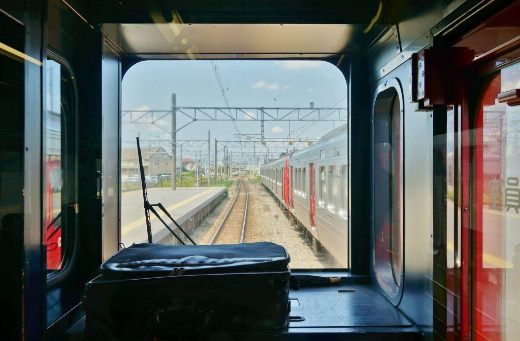 九州旅客鉄道鹿児島本線 JR荒木駅へ向かう 車窓からの景色 博多・久留米方面