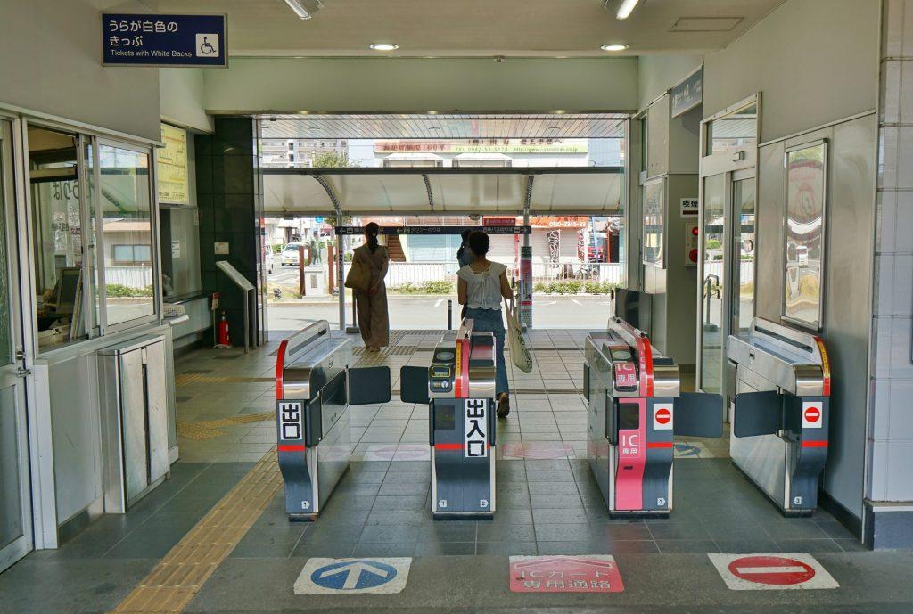 九州旅客鉄道鹿児島本線 JR羽犬塚駅 改札機 IC専用 出入口
