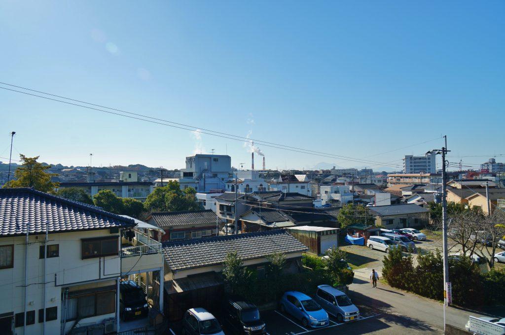 福岡県大牟田市鳥塚町を一望できる 鳥塚公園 休憩所 展望所