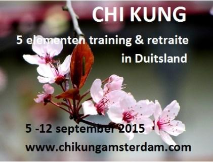 Chi Kung (Qi Gong) 5 elementen retraite, vakantie, training met Cosima Scheuten in Duitsland, Savita - www.chikungamsterdam.com