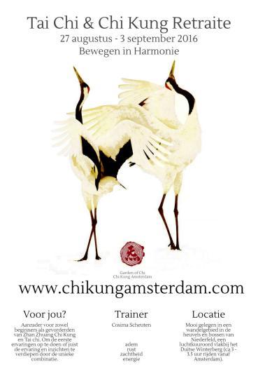 Tai Chi & Chi Kung retraite week 2016 | bewegen in harmonie - Cosima Scheuten - www.chikungamsterdam.com