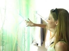 Katie looking 'artsy' at the Free People shop in Space 15 Twenty