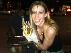 Katie got excited about a lot of things. This hot dog may take the cake, though.