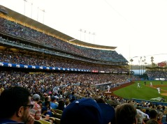 A sea of blue Dodgers fans