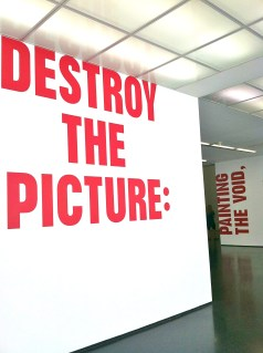 Destroy the Picture: Painting the Void