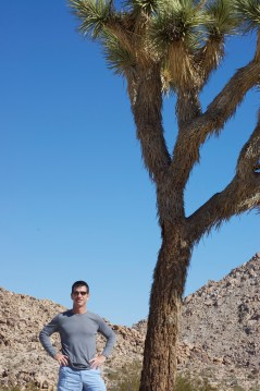 Dad next to a Joshua Tree. It clicked for him that maybe U2 was inspired by this place.