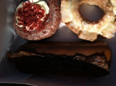 Red Velvet, Gingerbread Old-Fashioned, and the classic Maple Bacon doughnut