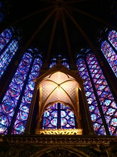 gawking at the Sainte Chapelle