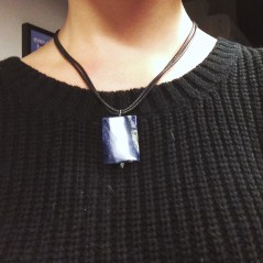 Got this sodalite pendant necklace from my cousin Kayla.
