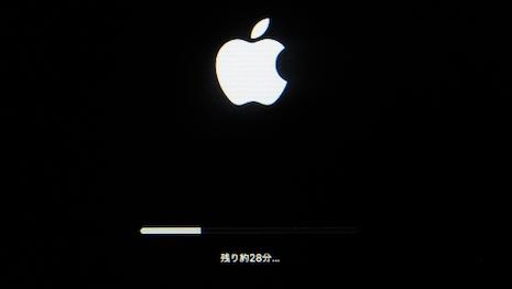 macOS Big Surをクリーンインストール中:りんごマーク