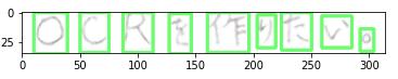 出力結果:各行の文字の輪郭検出・抽出結果5 - 【日本語 - 手書き編】傾き・角度補正の機能を実装:横書き・縦書き文章の日本語手書き文字検出