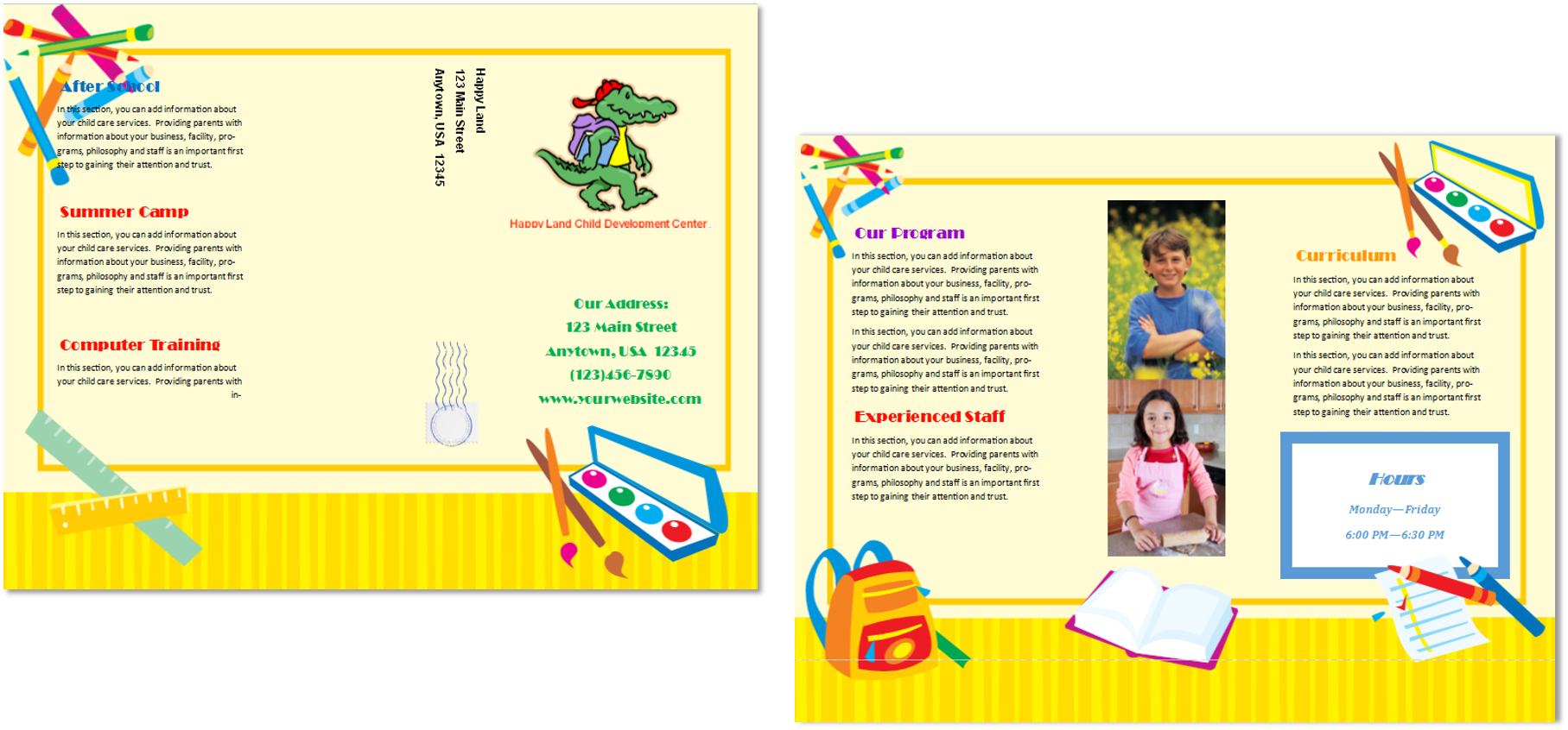 day care brochures