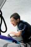 boy speedboat