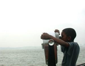 tween boy whale watching