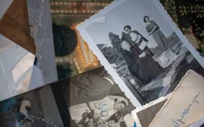 Kids revisit family photos and learn