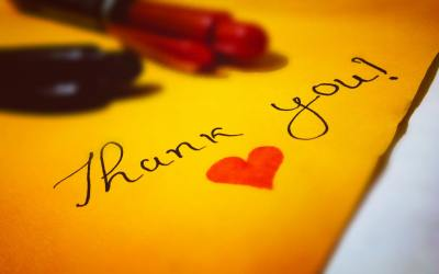 "Teach ""thank you."" Ideas to improve kids' skill."