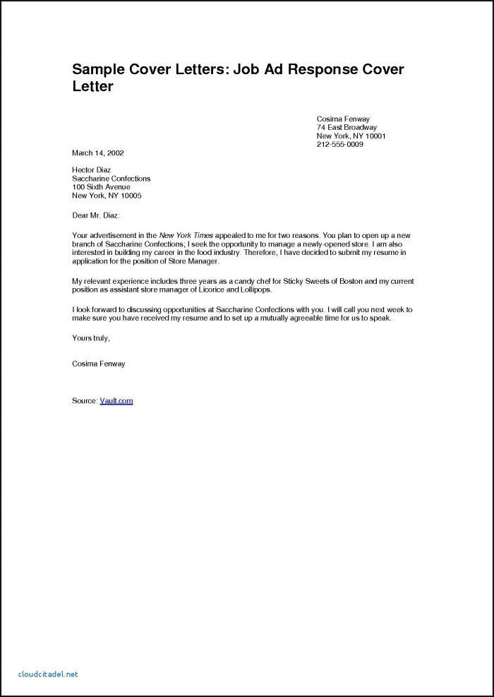Free Sample Cover Letter For Job Application Pdf